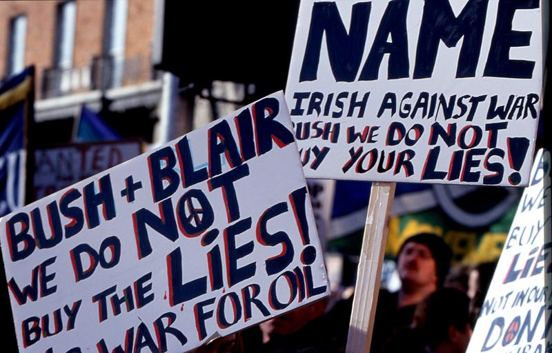 Bush & Blare we don't buy the lies