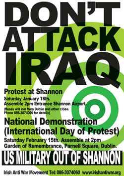 2003-02-15 Poster for Protest whcih was attended by 100,000