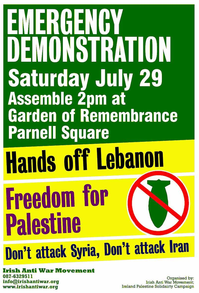Emergency Demo for Lebanon 29 June 2006