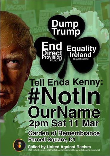 Dump Trump Demo Sat 11th March 2017